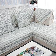 Hot Sale Sofa Covers Slip-resistant Sofa Towel Sofa Slipcover Plaid Pattern Covers for Sofa Couch Cushions, Sofa Cushion Covers, Couch Covers, Sectional Couch Cover, Blue Sectional, Sectional Sofas, Sofa Design, Leather Sofa Covers, Clean Sofa