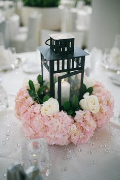 Elegant lantern wedding centerpieces