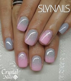New Nails Gel Glitter Ombre Shellac Ideas Sns Nails Colors, Pink Nails, Toe Nails, Fancy Nails, Trendy Nails, Nagel Blog, Dipped Nails, Nail Designs Spring, Sns Nail Designs