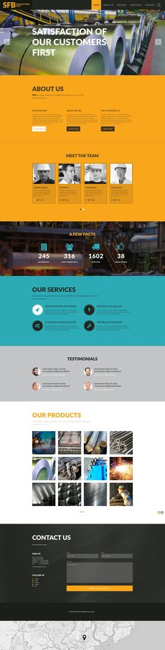 Website Template , Manufacturing
