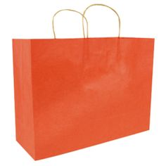 Frosted Brights - Orange Shopping Bag | Outrageous Orange ...