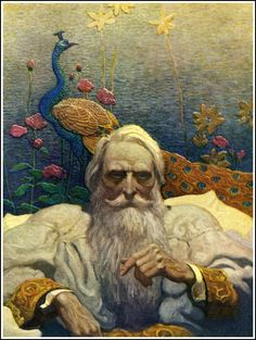 BRUDE'S WORLD : Captain Nemo by N.C. Wyeth, from the 1918 edition of Jules Verne's The Mysterious Island
