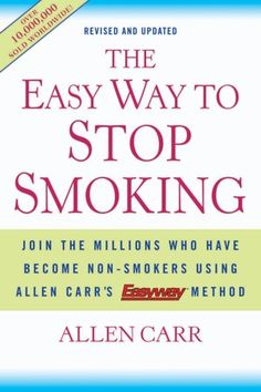 To all my smoker friends ready to quit but struggling to actually do so...READ this!!!! It worked for me and I couldn't be more proud of myself! The book tells you to smoke until you have finished reading it...I got to the point where I couldn't put it down because I wanted it to end so I could finally stop smoking. Seriously, Read this! Stop Smoking Book, Stop Smoking Aids, Ways To Stop Smoking, Help Quit Smoking, Giving Up Smoking, How To Quit Tobacco, Smoking Addiction, Nicotine Addiction, Stop Smoke