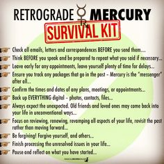 Mercury in retrograde survival kit Astrology Numerology, Astrology Zodiac, Horoscope, Astrology Stars, Magick Book, Witchcraft Spells, Think Before You Speak, Mercury Retrograde, Retrograde Planets
