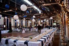 reception for navy blue and white wedding, photo: kristina cipolla   via http://emmalinebride.com/decor/navy-and-white-wedding-ideas/   from 21 Navy and White Wedding Ideas
