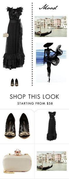"""Premiere in Venice"" by marieclare87 ❤ liked on Polyvore featuring Dolce&Gabbana, Chanel, La Regale and Dot & Bo"