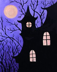 halloween painting Join us for a Paint Nite event Tue Oct 2015 at 7800 Dr Phillips Blvd Orlando, FL. Purchase your tickets online to reserve a fun night out! Halloween Canvas Paintings, Easy Canvas Painting, Halloween Painting, Halloween Drawings, Autumn Painting, Halloween Pictures, Autumn Art, Halloween Art, Painting & Drawing