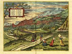 Tavolo granada ~ 1563 granada. published in 1572 braun and hogenberg civitates