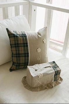韩式拼布抱枕 布艺装点温馨家居-拼布网: