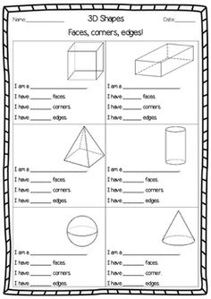 multiple choice questions math pk 1 shapes worksheets 3d shapes worksheets worksheets. Black Bedroom Furniture Sets. Home Design Ideas