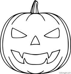 jack o lantern coloring page Free Download | Pumpkin ...