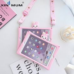 Case For iPad 2017 2018 Pro Air 1 2 3 Cartoon Kids Cover For Mini 1 2 3 4 5 Silicon Funda + strap New Kids Toys, Toys For Girls, Poupées Our Generation, Unicorn Fashion, Princess Toys, Stationary School, School Accessories, Unicorn Crafts, Ipad Air Case