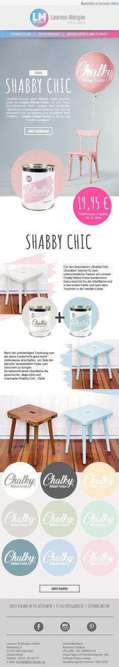 Newsletter Design | DIY | Paint | Chalky #diy #upcycling #vintage #shabbychic