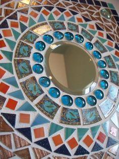 Southwestern Mosaic Mirror by memoriesinmosaics on Etsy