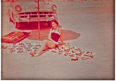 Gram on Daytona Beach on her honeymoon