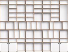 Modulares Regalsystem – Schallplatten-Regale–Würfelregale – Sideboards