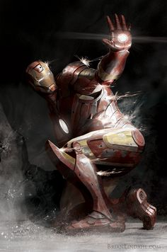 Iron Man Pinned Down by *BrianLindahl on deviantART