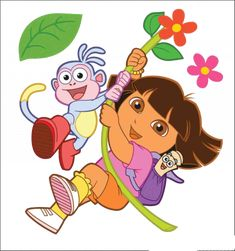 Cartoon Characters: Dora the Explorer (PNG) Dora Cartoon, Student Cartoon, Fox Illustration, Character Illustration, Disney Drawings, Cartoon Drawings, Dora The Explorer Pictures, Dora Drawing, Dora Pictures