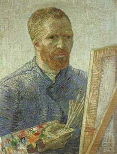 Self-Portrait as an Artist by Vincent Van Gogh Fine Art Print