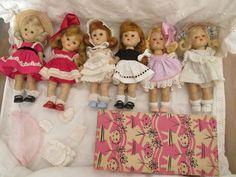 Vintage+Ginny+Vogue++6+Dolls.+#Dolls