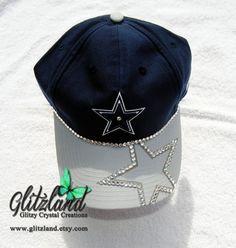 Ready to Ship!!  Blinged Dallas Cowboys New Era Womens On-Field Sideline 9Twenty Cap
