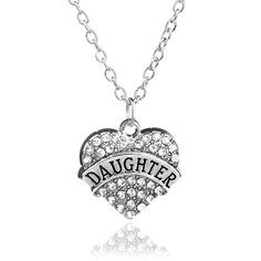 Mother's Day Best Gift Mom Daughter Sister Grandma Nana Aunt Family Necklace Crystal Heart Pendant