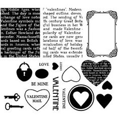 Unmounted  Rubber Stamps Valentine Faux by CarolynsStampStore, $2.52 https://www.etsy.com/listing/118932371/unmounted-rubber-stamps-valentine-faux #rubberstamps