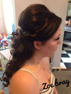 Hair up Bridal Prom hair