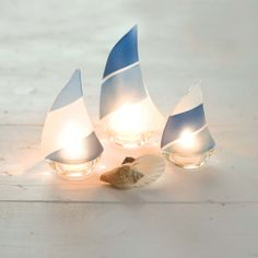 Design Ideas | Regatta Sea Stripe Candle Holders | Boat Candleholder