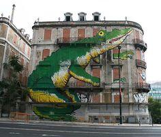 crono portugal art Street art on abandoned buildings all over Lisboa