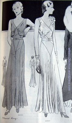 Butterick patterns 4093 and 4097; Delineator, Oct. 1931