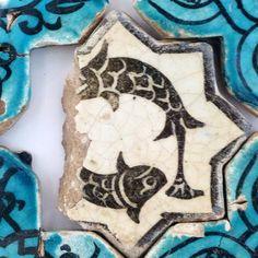 Turkish Seljuk Naturalistic Animal Design Tile From Konya Karatay Medrese(School). The Turkish Seljuk tiles now displayed at the Karatay Medrese in Konya originally decorated the walls of the century Kubadabad Palace on the shores of Lake Beyşehir. Ceramic Tile Art, Mosaic Art, Ceramic Pottery, Pottery Art, Ancient Persian, Turkish Art, Turkish Tiles, Antique Tiles, Art Corner