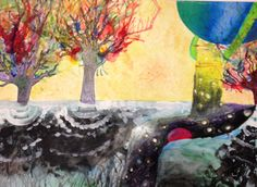 """""""Imagination, Worlds Away"""" by Michelle Sanchir from the Smith Middle School art Program. #ArtColony #HouArtFest"""