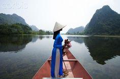 Vietnamese women at the Perfume Pagoda. Hanoi. Vietnam