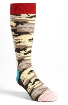 Happy Socks Camo Crew Socks | Nordstrom