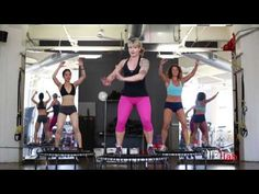 High Intensity Cardio Workout by Mandi Neubecker-Phillips of The Lab on the JumpSport Trampoline - YouTube