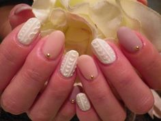 セーター柄ネイル 【e komo mai】 http://nail-beautynavi.woman.excite.co.jp/design/detail/25009?pint ≪ #nail #nails #nailart #softgel #gelnail #ジェルネイル #冬ネイル ≫