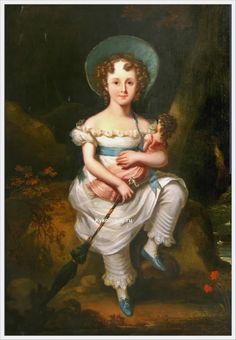 English School, 19th Century «A portrait of a young girl»