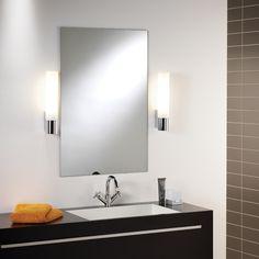 Spiegelleuchte fürs Bad in edlem Chrom und mattem Glas KYOTO 365