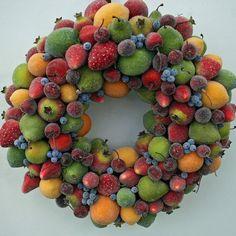 Sugared Fruit Wreath