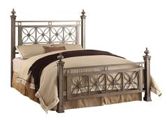 Silver Brush Black Queen Bed