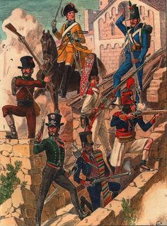 Distintas unidades Españolas que lucharon en la Guerra de la Independencia en su lucha contra los franceses Army History, World History, Independence War, Spanish Heritage, Fred, Fun World, Spain And Portugal, Napoleonic Wars, Empire