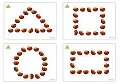 Autumn Activities For Kids, Fall Preschool, Kindergarten Crafts, Math For Kids, Toddler Preschool, Preschool Activities, Crafts For Kids, Beaded Flowers Patterns, English Worksheets For Kids