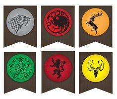 Resultado de imagen de decoracion para imprimir juego de tronos