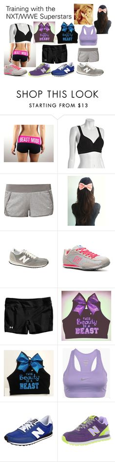 """""""Training with the NXT/WWE Superstars"""" by kelseyylove ❤ liked on Polyvore featuring Le Mystère, Puma, New Balance, Under Armour, NIKE, smackdown, wwe, raw and nxt"""
