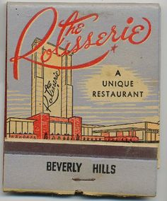 Matchbook, early Beverly Hills