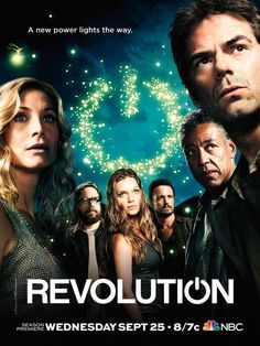 Created by Eric Kripke. With Billy Burke, Tracy Spiridakos, Giancarlo Esposito, Zak Orth. Fifteen years after a permanent global blackout, a group of revolutionaries seeks to drive out an occupying force posing as the United States Government. Revolution Tv Show, Revolution Poster, Elizabeth Mitchell, Dvd Blu Ray, True Blood, Series Movies, Movies And Tv Shows, Buffy, Serie Empire