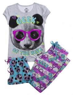 Justice is your one-stop-shop for on-trend styles in tween girls clothing & accessories. Shop our Panda Geek Pajama Set - MOOS. Cute Pjs, Cute Pajamas, Cute Girl Outfits, Cool Outfits, Shop Justice, Justice Stuff, Justice Pajamas, Kids Mma, Justice Clothing