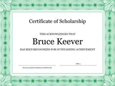 Employee Of The Month Certificate Template Free Certificate For Employee Of The Month Blue Chain Design  Printing .