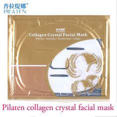 5 PCS/Lot Gold Bio-Collagen Facial Mask Face Mask Crystal Gold Powder Collagen Facial Mask Moisturizing Anti-aging